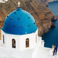 Stunning Santorini Wedding Anna and David