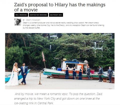 Romantic Wedding Proposal Thailand Steph Mikkelsen