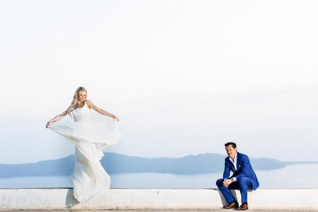 David & Anna wedding photography – Dana Villas Santorini Weddings