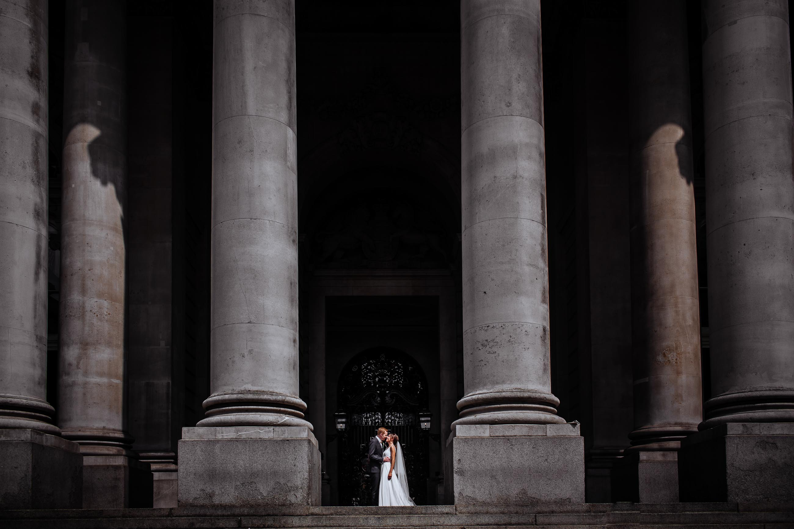 royal exchange london wedding photo