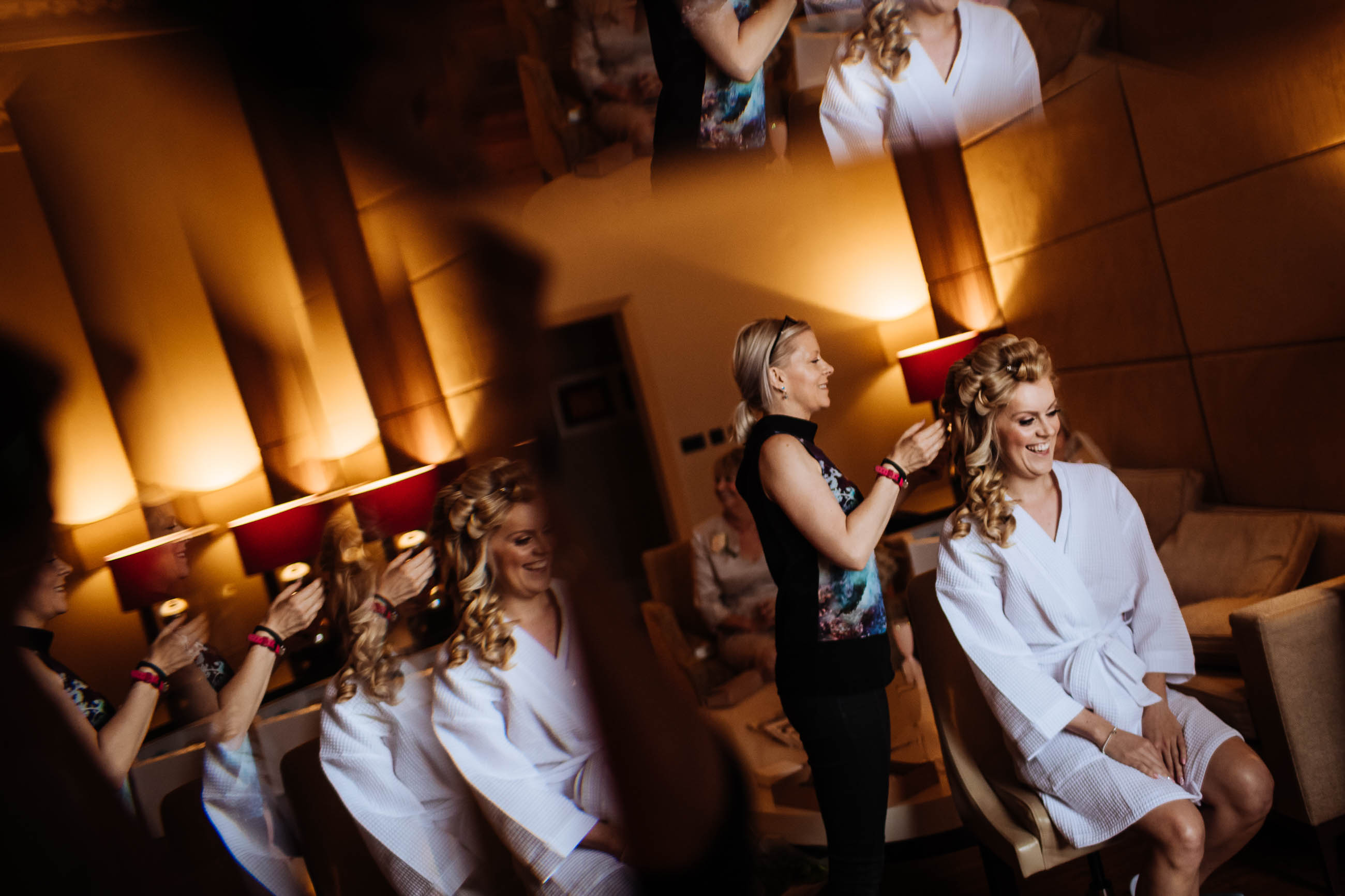 bridal preparation at London Wedding