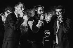 groomsmen smiling cigars by liam collard photography otography