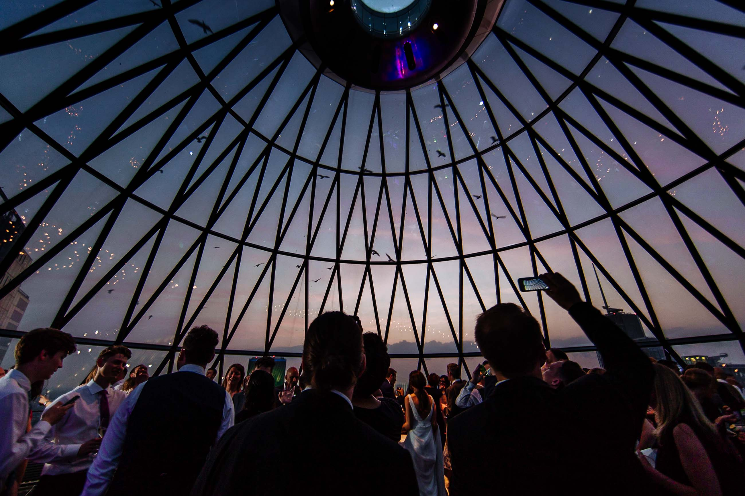 the gherkin london wedding photos