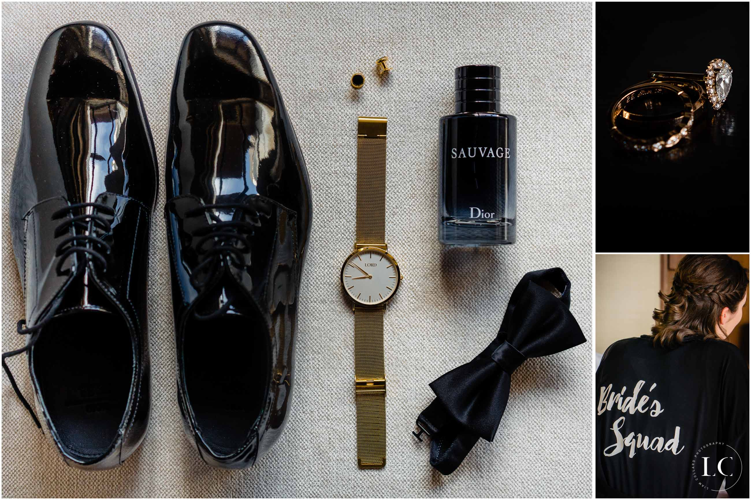 Flatlay of men's items