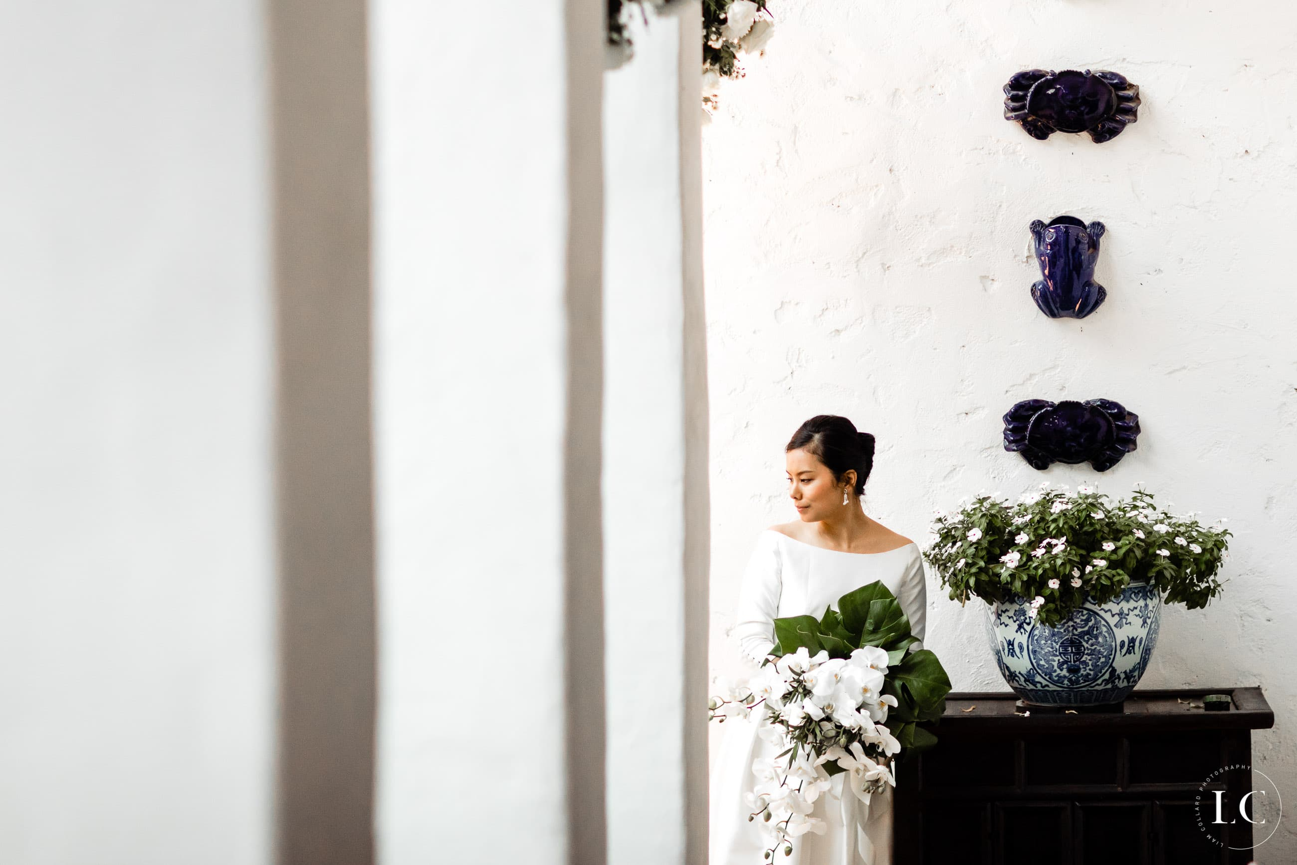Bride preparing to walk down the aisle
