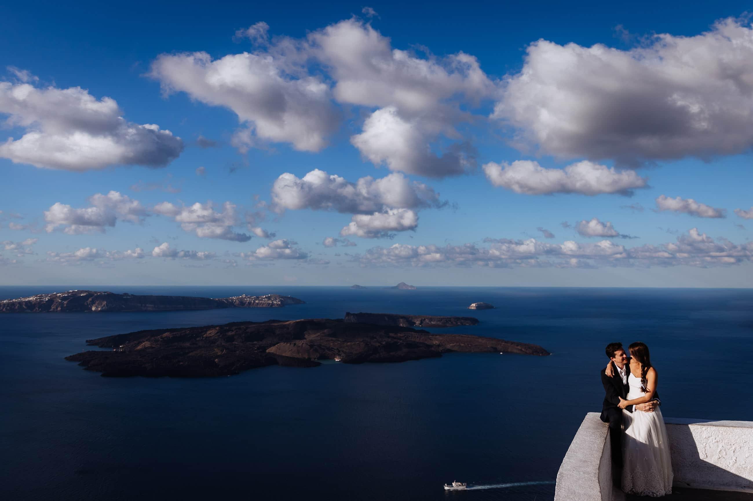 Santorini Couple