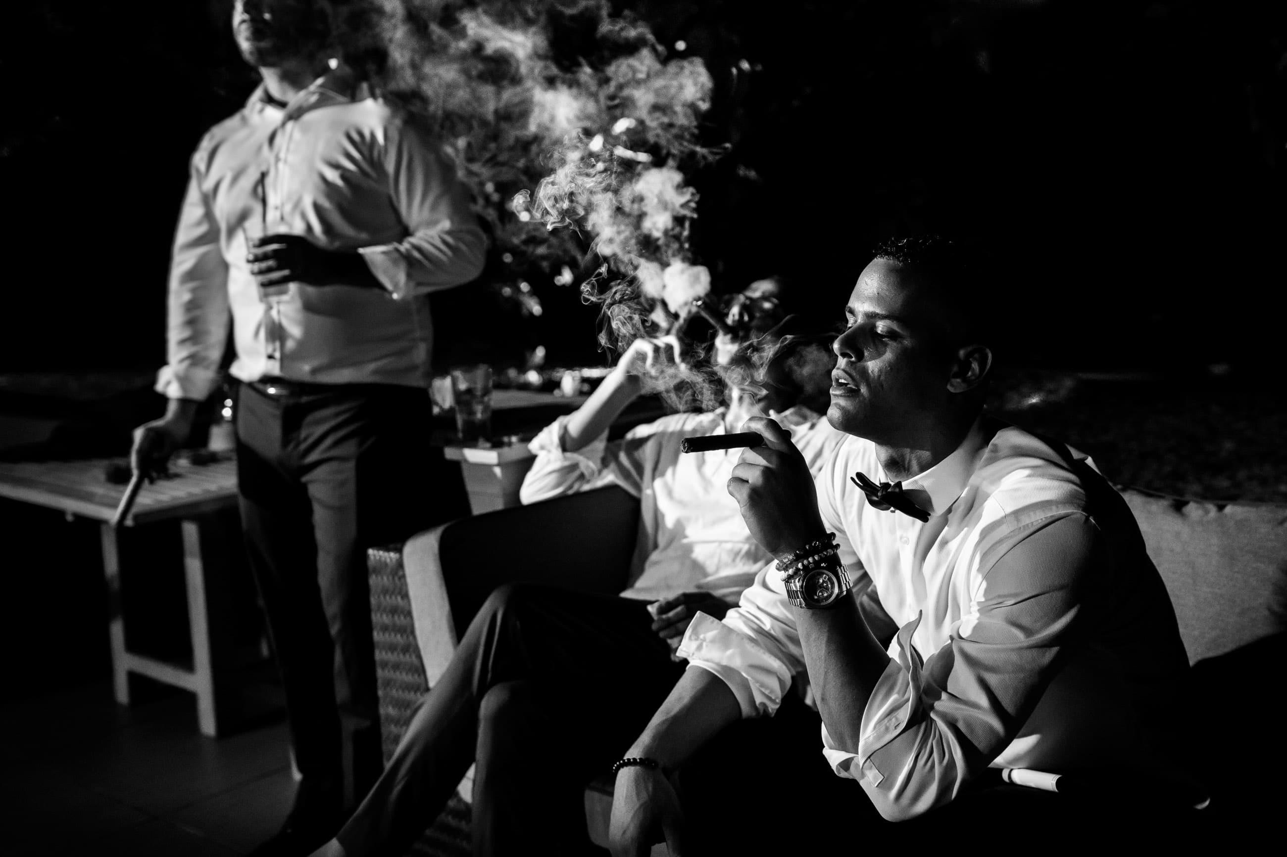 Groomsmen Smoking