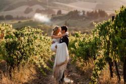 Bride Groom in Vineyard