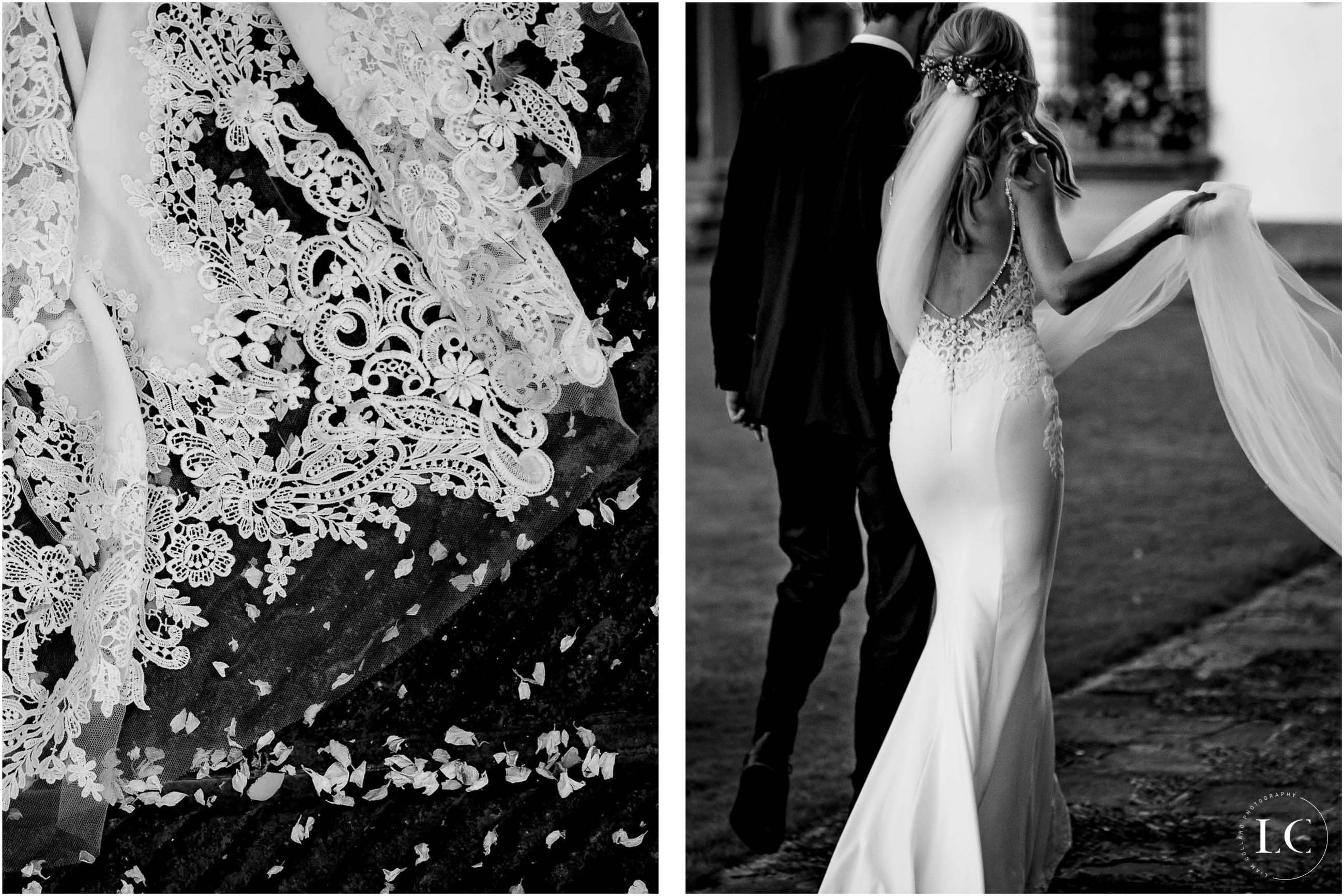 Collage of bride and groom