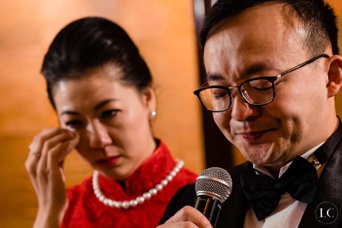 Doing speeches at wedding