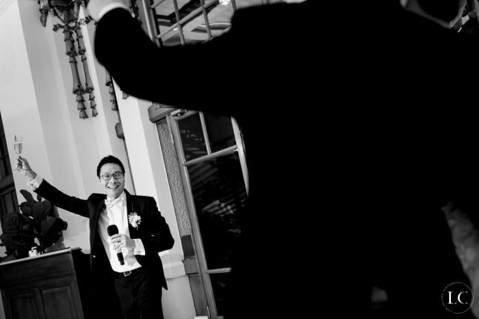 Groom at Hong Kong wedding
