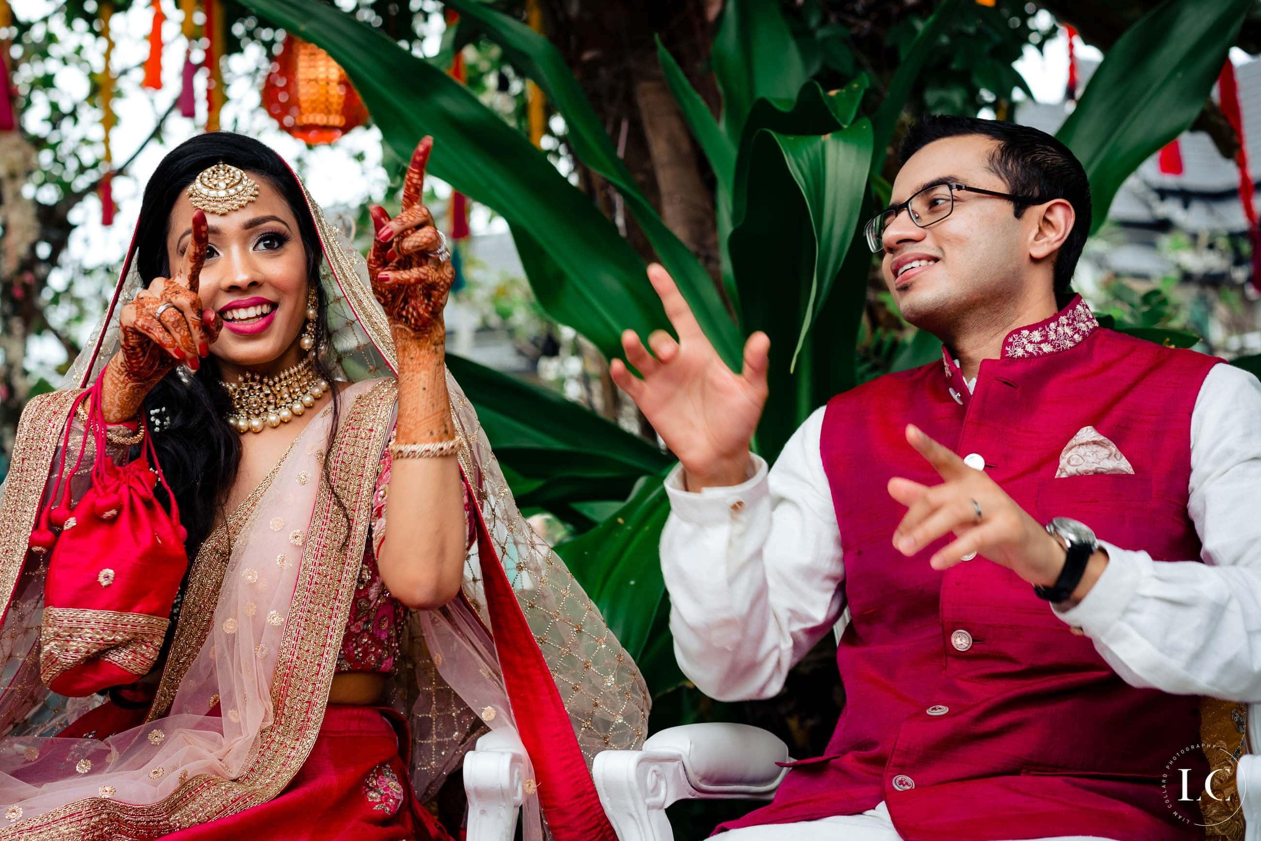 Bride and Groom Indian wedding