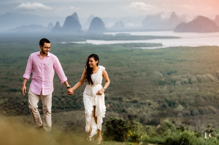 Pre wedding shoot with bride and groom