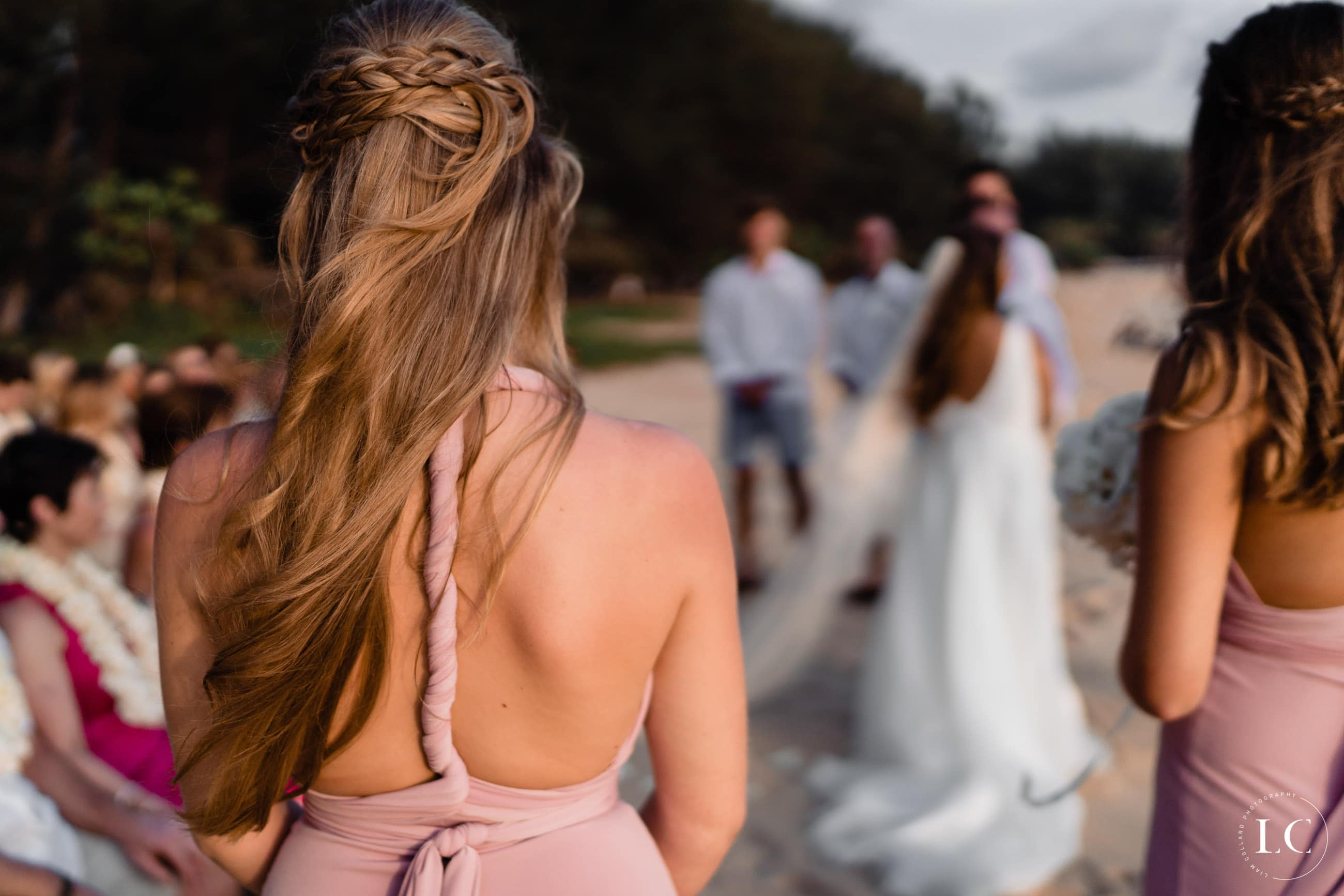 bridesmaid from behind
