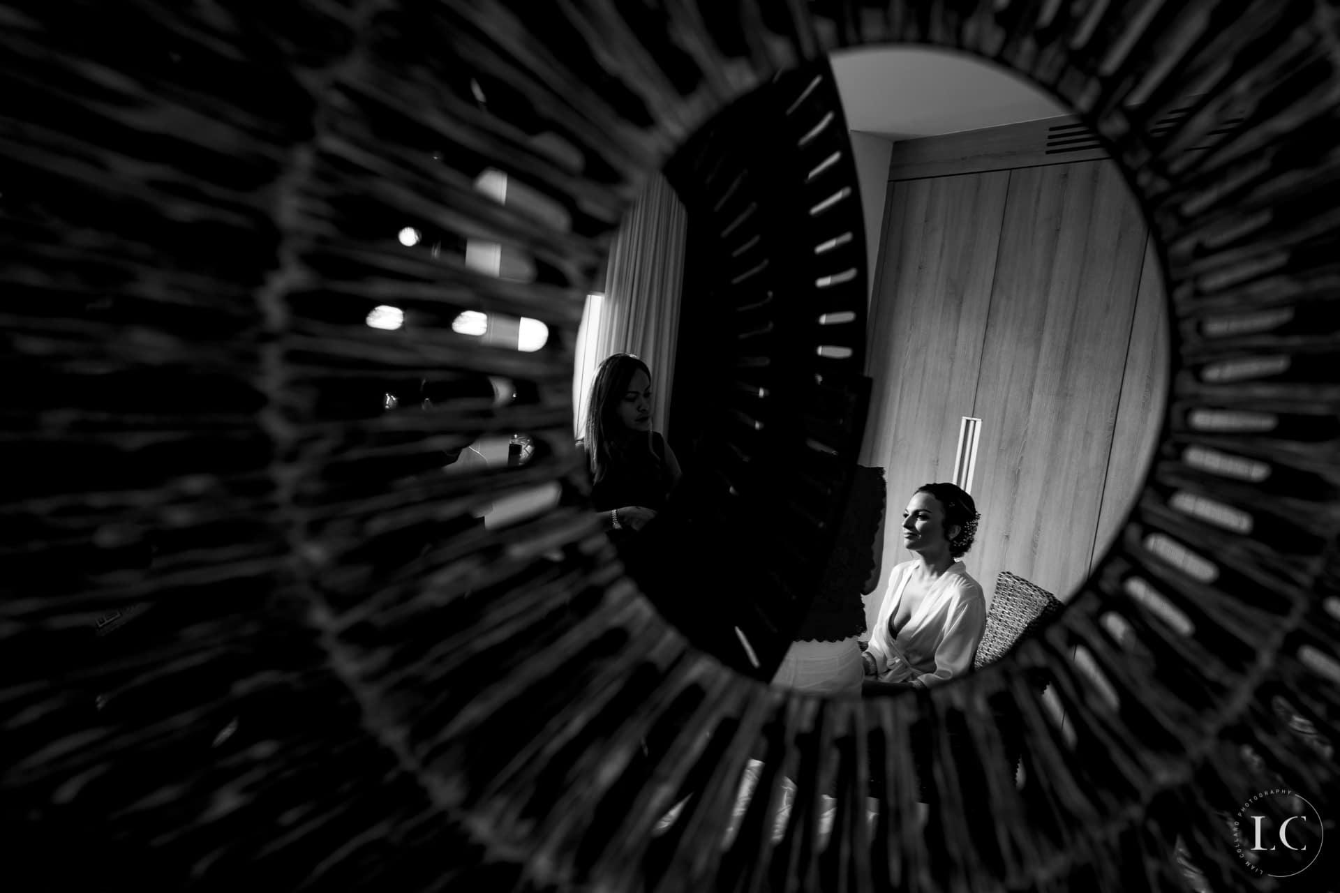 Mirror reflection bride