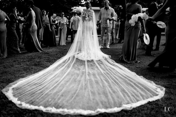 Brides dress from the back