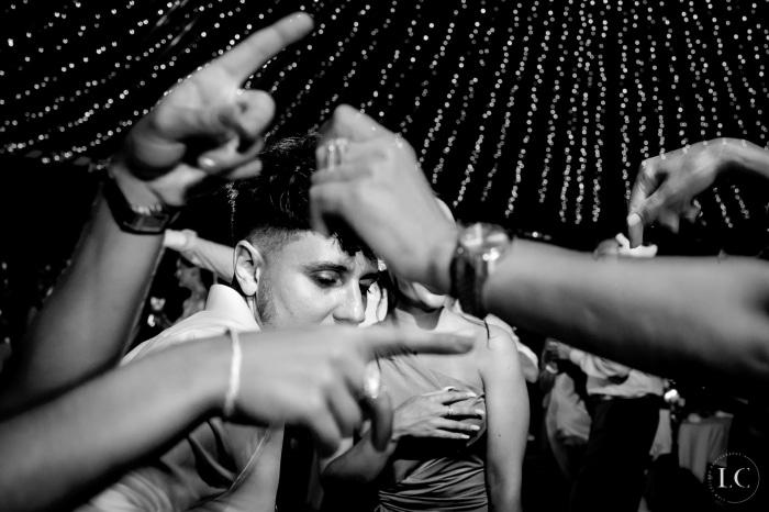 Dancing wedding reception