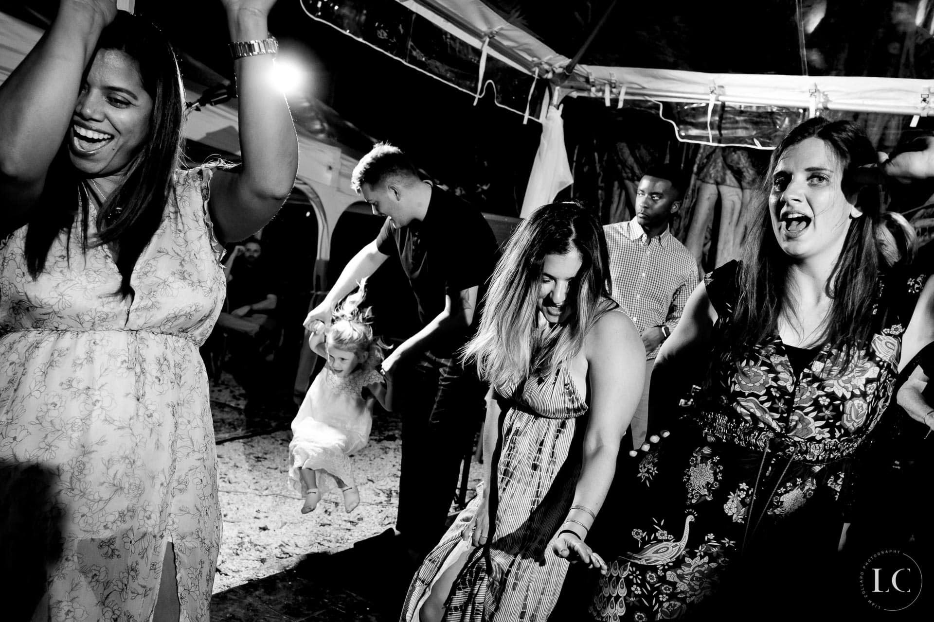 Wedding guests dance floor