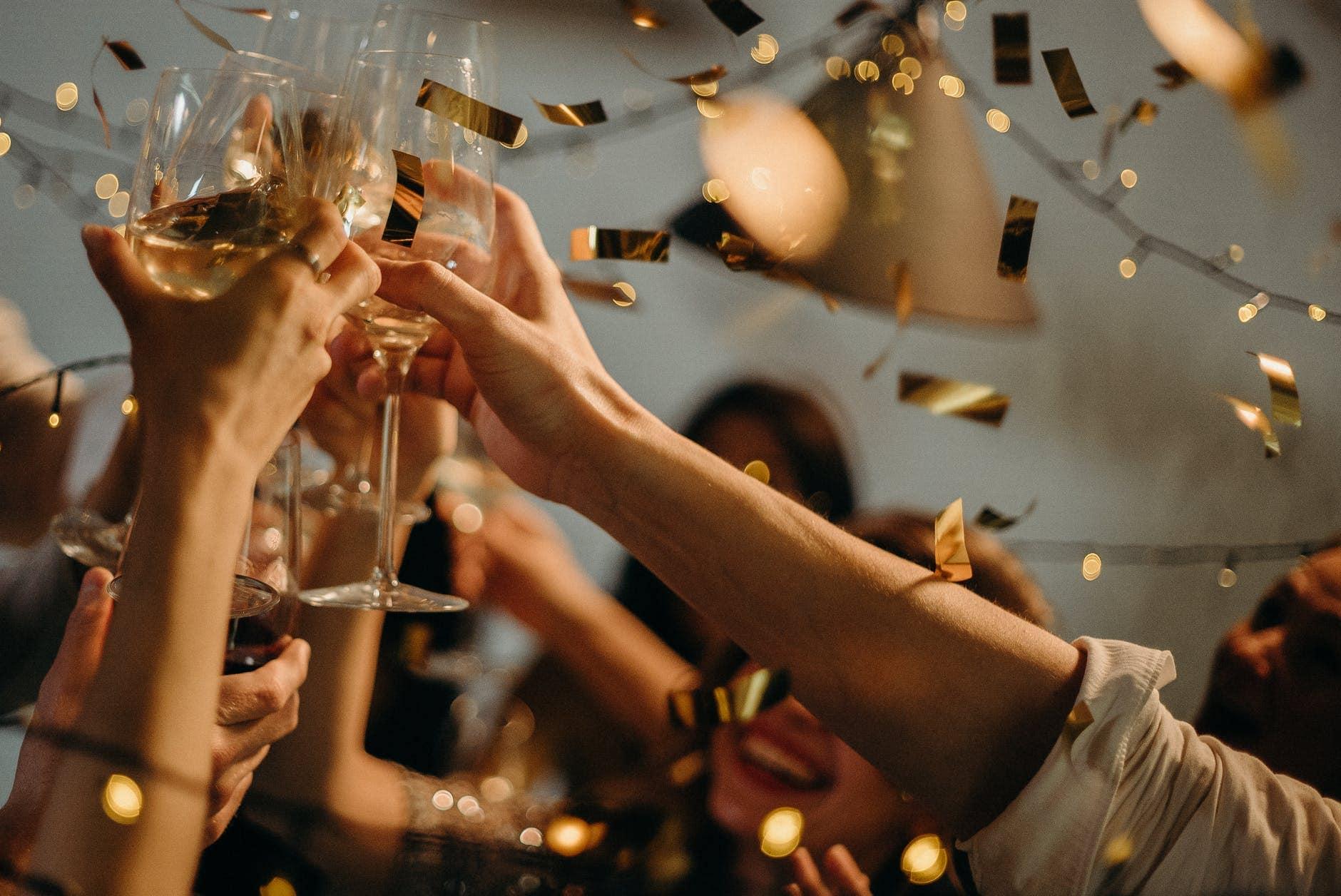 Cheers at wedding